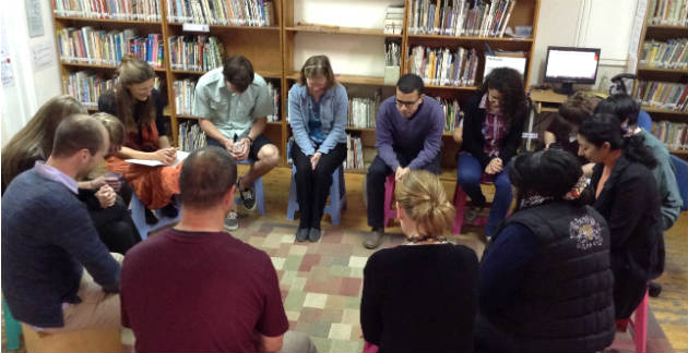 Staff praying